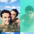 L'animateur Alex Goude et son chéri Romain Taillandier profitent de belles vacances aux Bahamas. Octobre 2015.