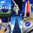Avant de se rendre aux Bahamas, Alex Goude et son chéri Romain Taillandier ont visité le Kennedy Space Center de la Nasa à Cape Canaveral. Octobre 2015.