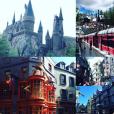 Plongée dans le monde d'Harry Potter pour Alex Goude et son chéri Romain Taillandier à Universal Studios, à Los Angeles. Octobre 2015.