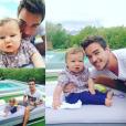 Sublimes photos d'Elliot, fils d'Alex Goude et Romain Taillandier. Octobre 2015.