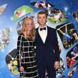 """Romain Febvre (champion du monde de motocross MXGP) et sa compagne Mégane Closset-26e édition des """"Sportel Awards"""" au Grimaldi Forum à Monaco le 13 octobre, 2015©Junior"""