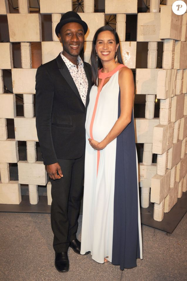 Aloe Blacc et Maya Jupiter, enceinte, au Hammer Museum : Gala In The Garden à Los Angeles, le 10 octobre 2015.