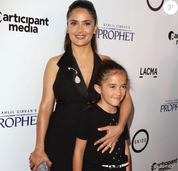 """Salma Hayek et sa fille Valentina Paloma Pinault - Première de """"Kahlil Gibran's The Prophet"""" à Los Angeles le 29 juillet 2015."""