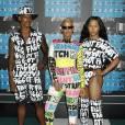 Amber Rose et ses deux assistants, Isaiah Joseph et Benji Carlisle, assistent aux MTV Video Music Awards à Los Angeles le 30 août 2015.