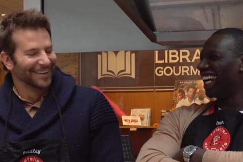 """Bradley Cooper et Omar Sy : Complices """"À vif"""" et aux fourneaux !"""