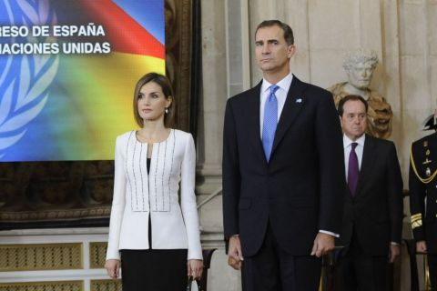 Letizia et Felipe VI d'Espagne : Anniversaire solennel avec Ban Ki-moon