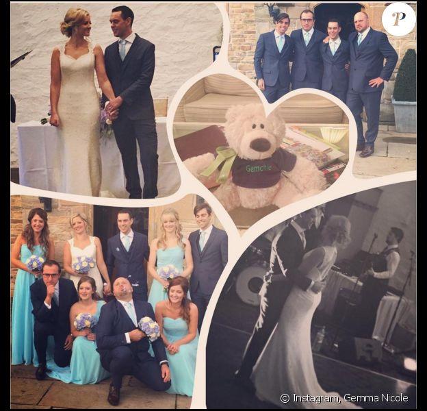 Gemma Nicole et Richie Porte lors de leur mariage - Photo publiée le 1er novembre 2015