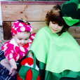 Brooks et Scarlett, les enfants de Molly Sims déguisés / photo postée sur le compte Instagram de l'actrice américaine.