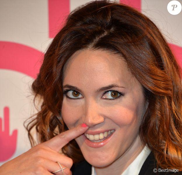 """Sandra Lou - Lancement du livre """"Finger in the nose"""" par Sandra Lou pour lutter contre le cancer des enfants au Palais Brongniart à Paris, le 2 novembre 2015. © Veeren Ramsamy/Bestimage"""