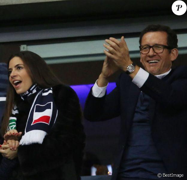 Dany Boon et sa femme Yaël - People assistent au match de football entre la France et l'Allemagne au Stade de France à Saint-Denis le 13 novembre 2015.