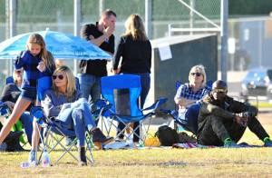 Heidi Klum et Seal réunis pour une journée foot en famille