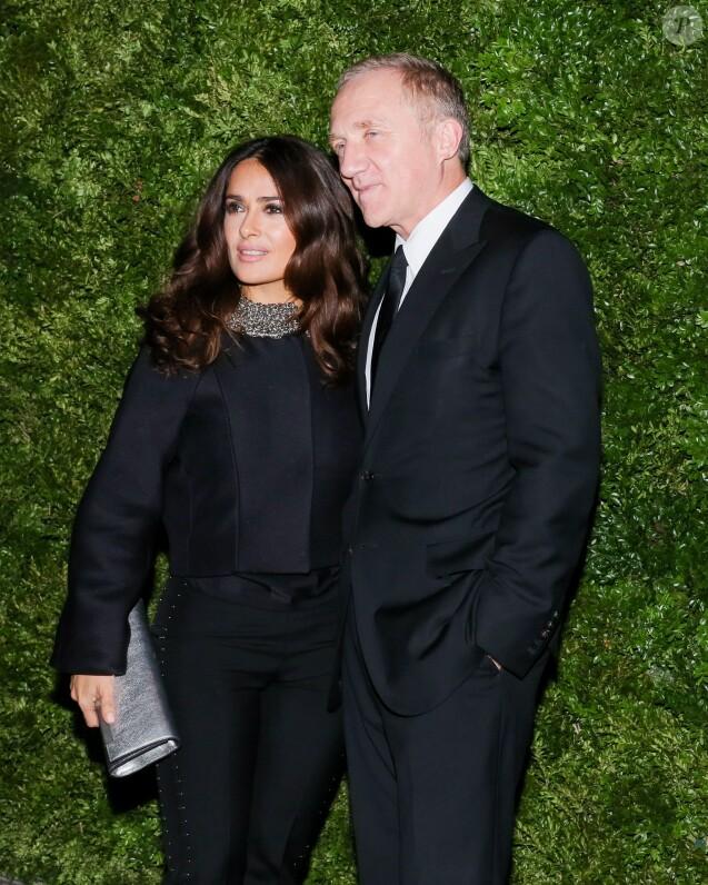 François-Henri Pinault et Salma Hayek assistent à la soirée de la fondation ADL au Waldorf Astoria. New York, le 18 novembre 2015.