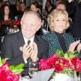 François-Henri Pinault et Jane Fonda assistent à la soirée de la fondation ADL au Waldorf Astoria. New York, le 18 novembre 2015.