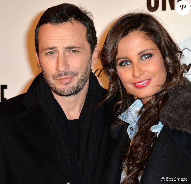 """Malika Ménard et son compagnon Michaël Cohen - Avant première du film """"Un + Une"""" de Claude Lelouch à l'UGC Normandie à Paris le 23 novembre 2015."""