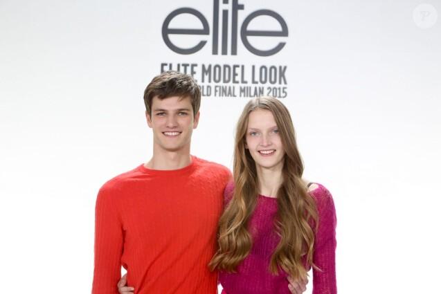 Tristan et Anouk lors de la 32eme Finale Internationale du Elite Model Look 2015