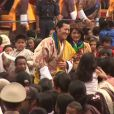 Image du mariage, en octobre 2011, du roi Jigme Khesar du Bhoutan et de la reine Jetsun Pema. Le couple a annoncé en novembre 2015 attendre son premier enfant, un garçon.