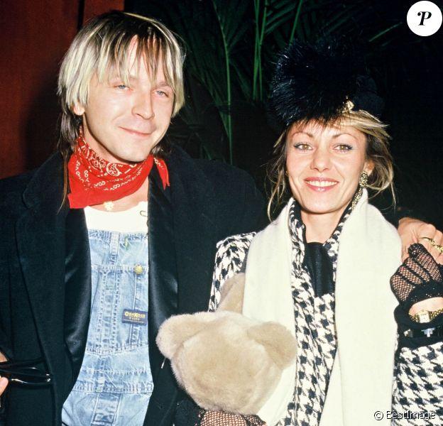 Renaud et sa première épouse Dominique au Zénith de Paris le 24 novembre 1985.