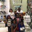 Boosie BadAzz et ses 8 enfants. Photo publiée le 22 novembre 2015.