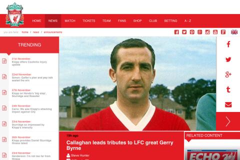 Gerry Byrne : Le héros de Liverpool, atteint d'Alzheimer, est mort