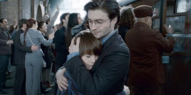 Harry Potter avec son fils Albus Severus Rogue.