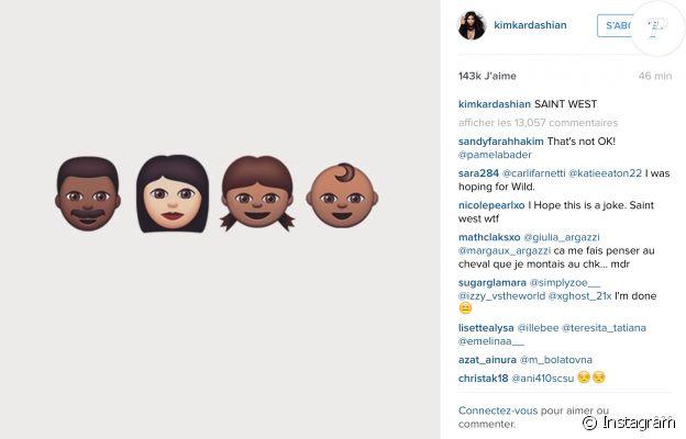C'est sur Instagram que Kim Kardashian vient de révéler le nom de son fils : Saint West !