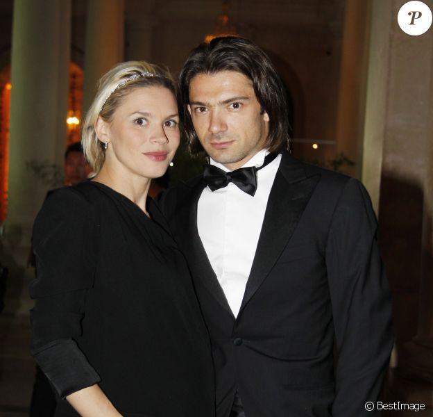 Gautier Capuçon et sa femme Delphine à la soirée privée Force de Création, à Paris, le 10 septemre 2012