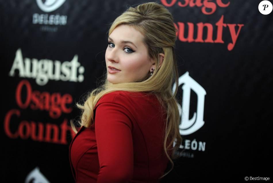 """Abigail Breslin - Premiere du film """"August : Osage County"""" a New York. Le 12 decembre 2013"""