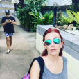 """Gaëlle des """"Ch'tis"""" en vacances avec un ami en Thaïlande. Décembre 2015."""