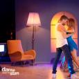 """EnjoyPhoenix et son partenaire, dans """" Danse avec les stars 6""""  sur TF1, le samedi 12 décembre 2015."""