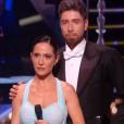 """Fabienne Carat et Julien Brugel, éliminés de """" Danse avec les stars 6"""" , le samedi 12 décembre 2015."""