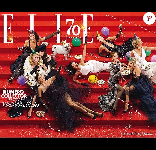 La couverture du magazine Elle qui fête ses 70 ans. Photo réalisée par Jean-Paul Goude
