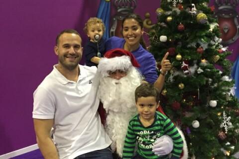 Frédéric Michalak : La belle Cindy et ses enfants sur les genoux du père Noël