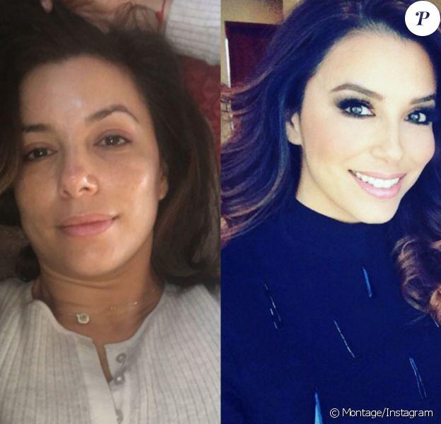 Eva Longoria : Avec ou sans maquillage, c'est le jour et la nuit !