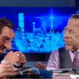 Les marionnettes de Jean-Pierre Pernaut et Patrick Poivre d'Arvor, dans les  Guignols de l'Info  sur Canal+, le lundi 14 décembre 2015.