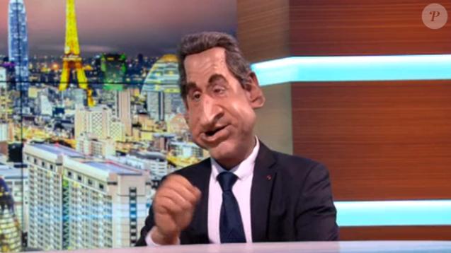 La marionnette de Nicolas Sarkozy, dans les  Guignols de l'Info  sur Canal+, le lundi 14 décembre 2015.