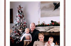 Charlene et Albert de Monaco : Tendre photo avec les jumeaux pour les voeux