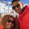 Les boxeurs Tony Yoka et Estelle Mossely à La Plagne, décembre 2015.