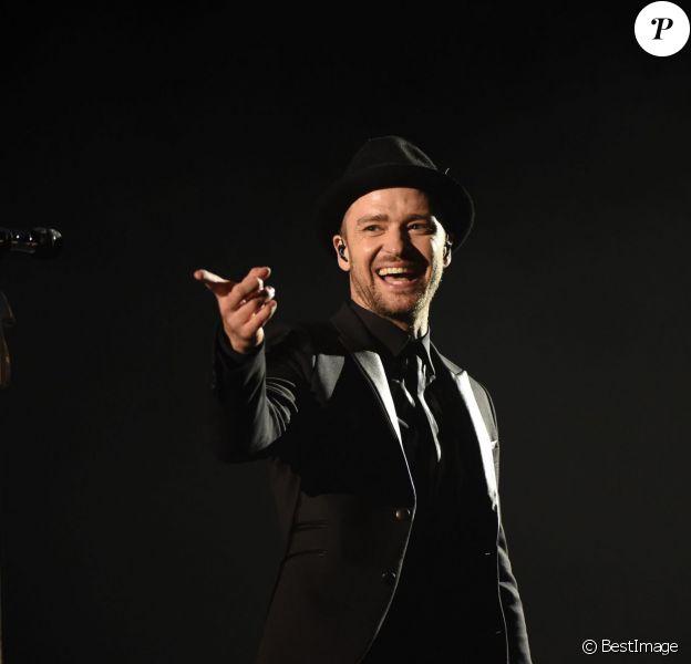 Justin Timberlake en concert lors de la 13ème édition du festival de musique de Mawazine à Rabat, le 30 mai 2014.