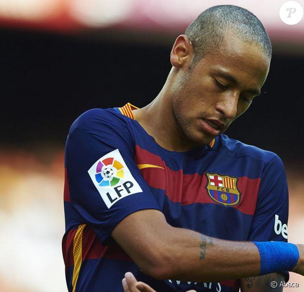 Neymar lors de la rencontre entre le FC Barcelone et Las Palmas, au Camp Nou de Barcelone,le 26 septembre 2015