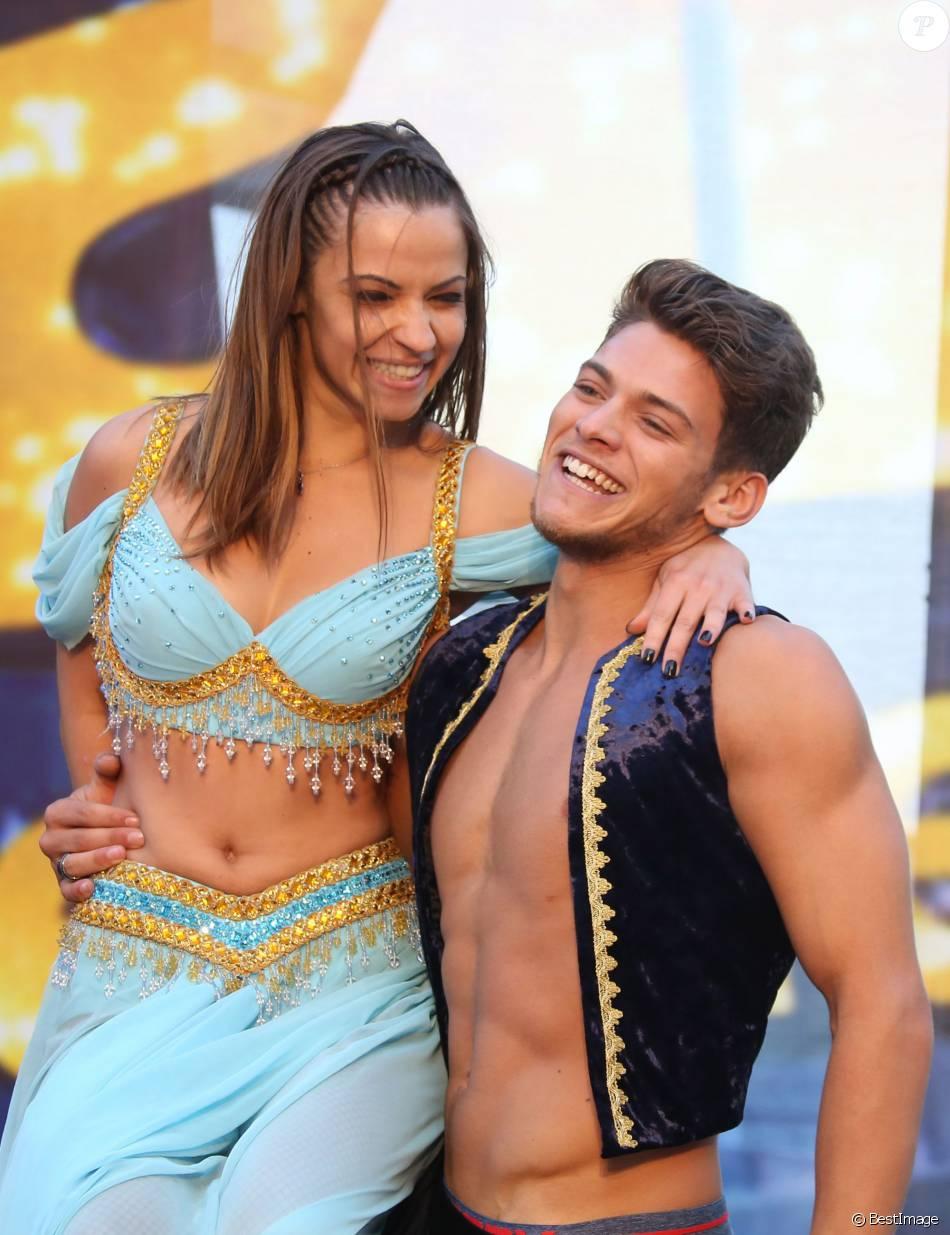 Monte Carlo 2015 >> Rayane Bensetti et sa compagne Denitsa Ikonomova - Spectacle Danse avec les stars lors du 55e ...