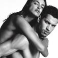 Irina Shayk et Chris Moore sur la nouvelle campagne Givenchy Jeans. Photo par Luigi + Iango.
