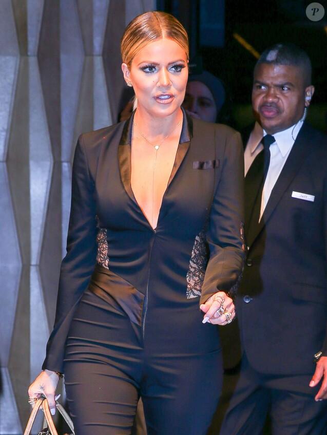 Khloé Kardashian à la sortie de l'hôtel Trump à New York, le 13 janvier 2016