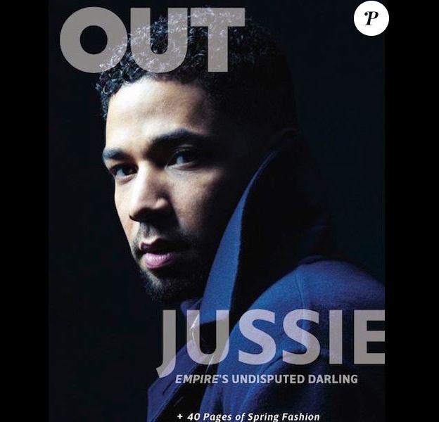 Jussie Smollett en couverture de OUT. Février 2016
