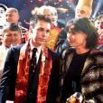 Exclusif - La princesse Stéphanie de Monaco, ici avec son fils Louis Ducruet, a reçu le 19 janvier 2016 un Clown d'or des mains de son frère le prince Albert II lors du 40e Festival international du cirque de Monte-Carlo, en reconnaissance de son engagement dans la perpétuation du rendez-vous créé par leur père le prince Rainier III, qu'elle préside depuis 2005, et en présence notamment de ses enfants Louis et Pauline Ducruet. © Bruno Bebert/Bestimage