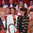 Exclusif - La princesse Stéphanie de Monaco a reçu le 19 janvier 2016 un Clown d'or des mains de son frère le prince Albert II lors du 40e Festival international du cirque de Monte-Carlo, en reconnaissance de son engagement dans la perpétuation du rendez-vous créé par leur père le prince Rainier III, qu'elle préside depuis 2005, et en présence notamment de ses enfants Louis et Pauline Ducruet. © Bruno Bebert/Bestimage