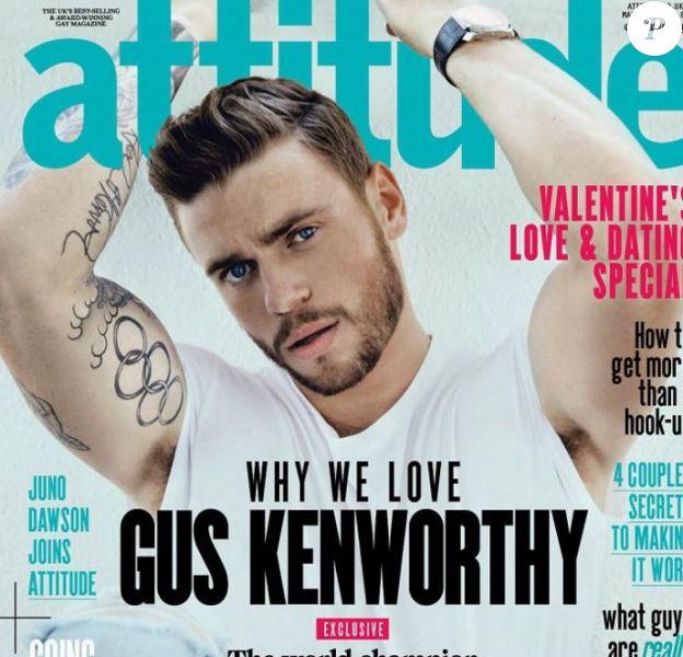 Gus Kenworthy en couverture de Attitude, mars 2016