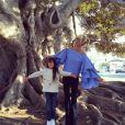 Laeticia Hallyday et sa fille Joy à Los Angeles, janvier 2016.