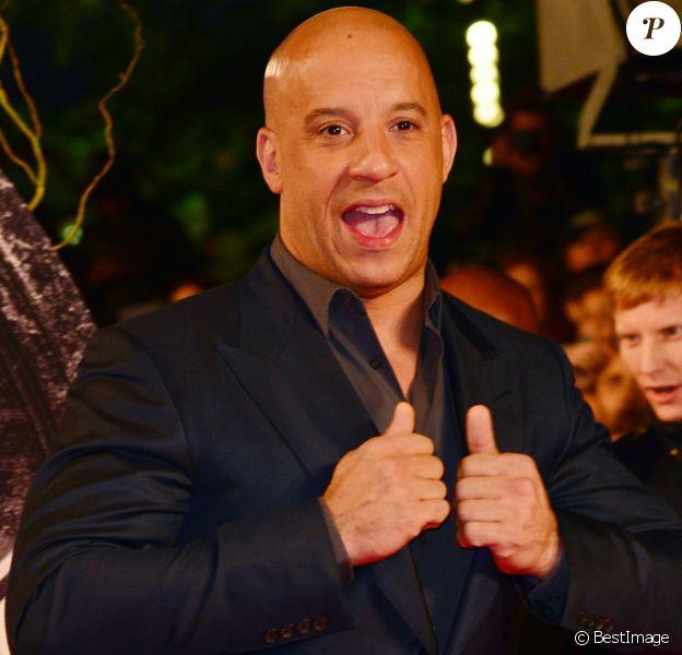 """Vin Diesel - Avant-première du film """"Le Dernier Chasseur de sorcières (The Last Witch Hunter)"""" à l'Empire Cinema à Londres, le 19 octobre 2015."""