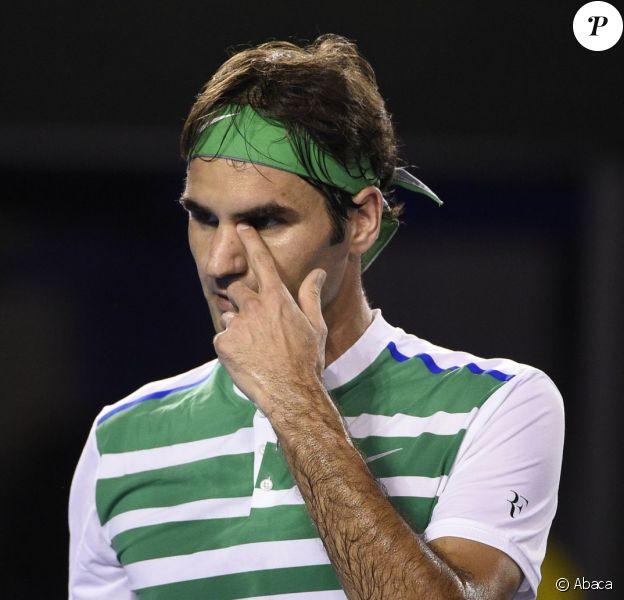 Roger Federer lors de sa défaite en demi-finale de l'Open d'Australie, le 28 janvier 2016 à Melbourne