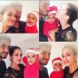 Barbara Morel, son époux Maxime Mermoz et leur fils Aaron - Photo publiée le 25 décembre 2015
